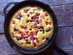 Lemon Berry Cake (gluten, grain, and dairy free) ~ savorylotus.com (uses coconut flour)