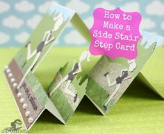 How to Make a Side Stairstep card: #SilhouetteCameo #JoysLifeStamps