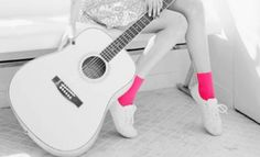 guitar images, image search, & inspiration to browse every day. Pink Guitar, Guitar Diy, Guitar Case, Acoustic Guitar Photography, Guitar Images, Tout Rose, Acoustic Guitar Lessons, Acoustic Guitars, Pastel Fashion