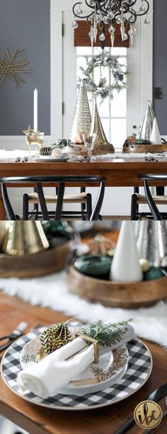 Holiday Home Tour 2016 Green Dining RoomDining