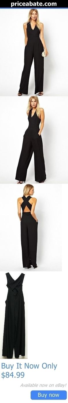 Jumpsuits And Rompers: Nwt Alythea Womens Sleeveless Bodycon V Neck Clubwear Jumpsuit Trousers Black S BUY IT NOW ONLY: $84.99 #priceabateJumpsuitsAndRompers OR #priceabate