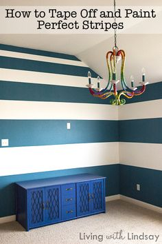 How to Tape off and Paint perfect stripes from makelyhome.com