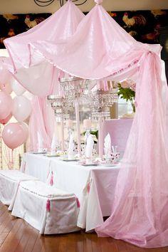 "Princess Party Decoration - Photo 1 of Princess Tea Party / Birthday ""Pink Princess Tea Party"" Tea Party Birthday, Princess Birthday, Girl Birthday, Pink Princess, Birthday Crowns, Real Princess, Princess Style, Disney Princess, Princesse Party"