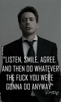 "Inspirational Quotes About Robert Downey Jr ""Happiness is letting go of what you think your life is supposed to look like and celebrating it for everything that it is. Great Motivational Quotes, Great Quotes, Quotes To Live By, Me Quotes, Funny Quotes, Inspirational Quotes, Meaningful Quotes, Bad Boy Quotes, Famous Quotes"