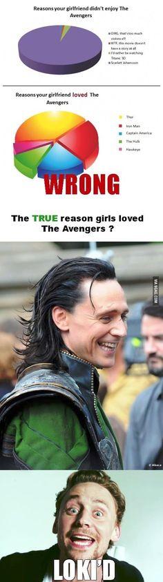 Okay, but Loki is 'lowkey' my favourite. ...Eh? Get it?