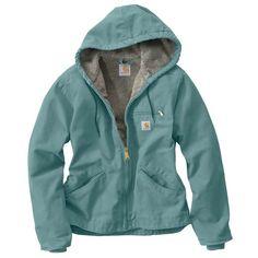 Amazon.com: Carhartt Women's Sandstone Duck Sierra Jacket/Sherpa-Lined: Down Alternative Outerwear Coats: Clothing