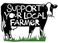 Support your local Farmer bumper sticker black and by LizzyClara