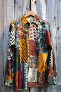 Paisley Patchwork Style Seventies Hippie Men's or by 2cutevintage