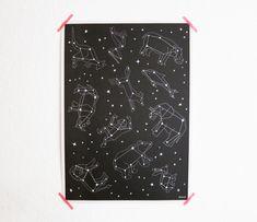 »Glow in the Dark« Sternen-Poster von enna  von enna shop auf DaWanda.com