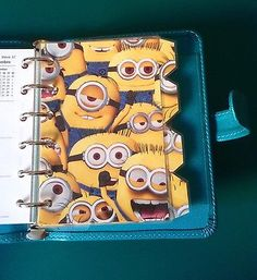 Filofax-Pocket-Mini-Organiser-Despictable-Me-Minions-set-of-4-Laminated My Minion, Minions, Organisers, Filofax, Planners, Pocket, Storage, Ebay, Organization