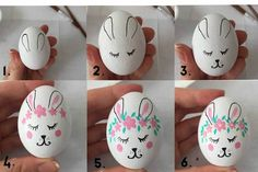 How to Paint Adorable Easter Eggs Bunny Easter Egg Kindness Confetti Cool Easter Eggs, Making Easter Eggs, Easter Egg Dye, Easter Egg Crafts, Easter Art, Easter Bunny, Painting Eggs For Easter, Easter Egg Designs, Diy Ostern