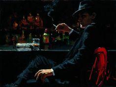 Fabian Perez - man in black suit. The Man Who Cried, Fabian Perez, Dark Thoughts, Art For Art Sake, Loneliness, Dark Art, Black Men, Cool Art, Illustration Art
