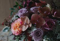 Loving the mix of soft purples with a hint of peach. Thank you wild heart flowers for the inspiration