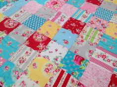 Flower Sugar Baby Girl Quilty Blanket by babyburritoquilts on Etsy, $75.00