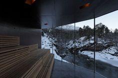 River Sauna / Jensen & Skodvin Architects - Sauna met veel technische details!