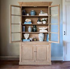 Oak Hamptons Cabinet/Bookcase