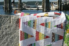 nautical quilt - love the pattern for using up scraps!