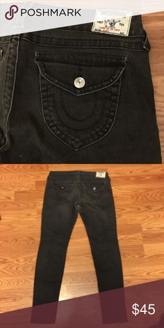 True Religion Brand Jeans - Women's Size 32 Skinny Authentic TRBJs. Skinny fit, low-rise. Size 32. Inseam 33. Has lots of stretch, gives about half a size as you wear. Hardly worn. True Religion Jeans Skinny