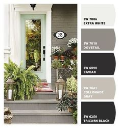 Deep Grays and Black Paints for a home