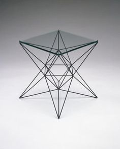 Clement Meadmore; Unique Steel and Glass Occasional Table, c1960.
