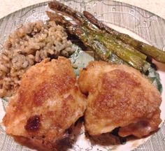 T.G.I.G.F! Brown Sugar Baked Chicken A simple but delicious way to make tender sweet golden chicken. One of my family's favorites!  This recipe is great for pork chops too.