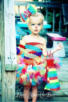 clown costume petti tutu set plus legwarmers and bow via etsy a colorful and cute halloween costume for a little girl cutest clown ive ever seen
