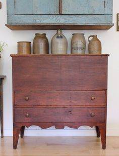 Rare 1820's Antique Early American Country Pine Blanket Chest | eBay