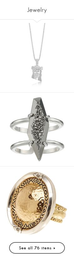 """Jewelry"" by crushedrosepetals ❤ liked on Polyvore featuring jewelry, rings, druzy ring, rhodium jewelry, drusy jewelry, platinum jewelry, platinum jewellery, necklaces, accessories and chanel"