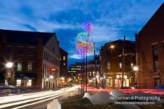 Fore Street in Downtown Portland, Maine at Dusk | by Ketterman Photography
