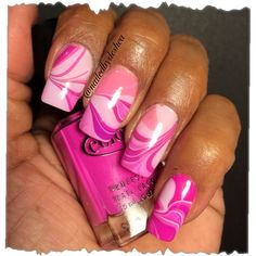 marble me pink by nailedbydeshea from Nail Art Gallery