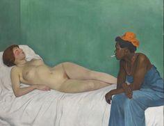 Félix Vallotton : La Blanche et la Noire, 1913. Huile sur toile, 114 cm x 147. Hahnloser /Jaeggli Stiftung. Winterthur. Photo Reto Pedrini, Zurich.