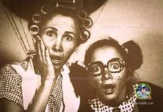 Selfie de doña Florinda y la Chilindrina (1978)