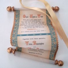 Medieval Wedding Invitation Scroll with Celtic Knots on