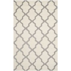 Safavieh Handmade Cambridge Ivory/ Silver Wool Rug (10' x 14') | Overstock.com Shopping - The Best Deals on 7x9 - 10x14 Rugs