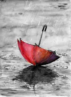 Roter Regenschirm Mehr