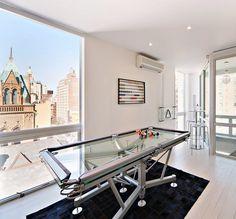 Glass Pool Table #pooltable #entertainment #decor