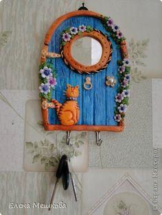 Polymer Clay Fairy, Polymer Clay Dolls, Polymer Clay Projects, Diy Clay, Handmade Polymer Clay, Clay Wall Art, Mural Wall Art, Clay Art, Jar Crafts