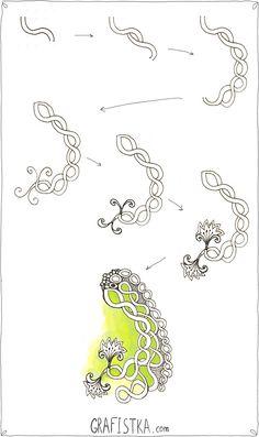 Как нарисовать Дудлинг Зентангл узор №9