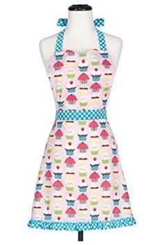 Amazon.com: KAF Home Child's Hostess Apron, Cupcake, Adjustable Fit, Machine Washable: Home & Kitchen