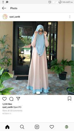 Modern Hijab Fashion, Abaya Fashion, Fashion Dresses, Muslimah Wedding Dress, Hijab Style Dress, Moslem Fashion, Dress Brokat, Arabic Dress, Mode Abaya