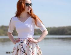 OUTFIT | Sakura Skater Skirt at Strathclyde Country Park