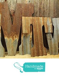 Rusty Tin Letters, Monogram rustic letter, large letters, Home Decor, Initials, rustic wedding decor from Custom Cut Decor http://www.amazon.com/dp/B018RXP4M0/ref=hnd_sw_r_pi_dp_t5aIwb01P9M1K #handmadeatamazon