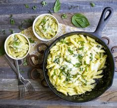Creamy Pesto Penne, one pan and only 10 minutes! gluten free!