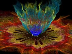 Blue Flames by DWALKER1047 on deviantART ~ fractal art