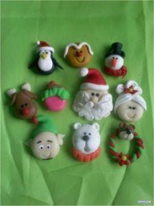 Aretes Navidad Pudding Tachas Navidad Fiesta Hecho A Mano Lindo festivo Fimo