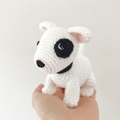 Made to Order BULL TERRIER crochet amigurumi Bull Terrier Puppy, All Toys, Toy Sale, Jelly Beans, Hand Sewing, Dog Lovers, Hello Kitty, Puppies, Make It Yourself