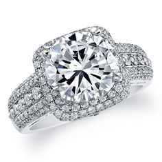 14k White Gold semi mount engagement ring.