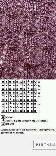 Lace knitting pattern
