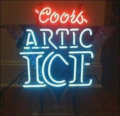 Coors artic ice Lights Out Neon Signs Gone Wrong