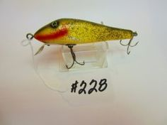 Paw Paw  Fishing Lure - Chub - Green w/Silver Flitter